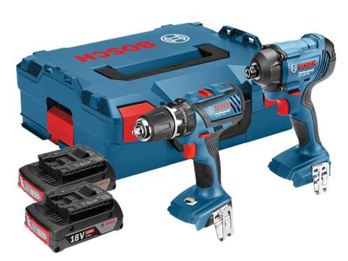 Bosch Cordless Twin Pack 18V 2 x 3.0Ah Li-Ion