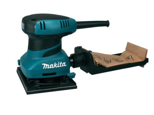 Makita BO4555 240 Volt Palm Sander + Hook & Loop + Clamp