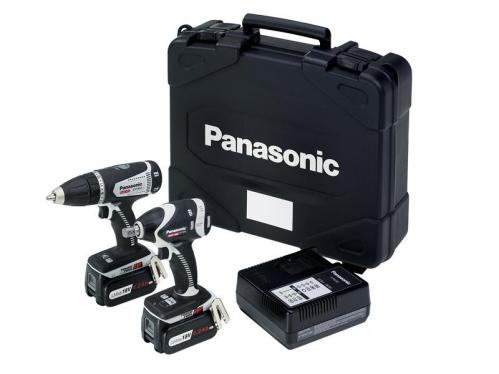 Panasonic C201 LS2G Impact Wrench & Drill Driver 18 Volt Kit 2 x 4.2Ah Li-ion