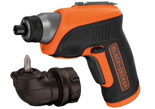 Black & Decker CS3652LC Cordless Screwdriver & Right Angle Attachment 3.6 Volt Li-Ion CS3652LC-GB