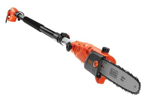 Black & Decker PS7525 Corded Pole Saw 25cm Bar 800 Watt 240 Volt