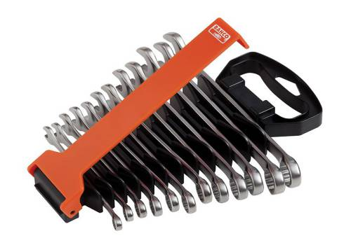 Bahco Combination Spanner Set of 12 Metric Chrome Polish