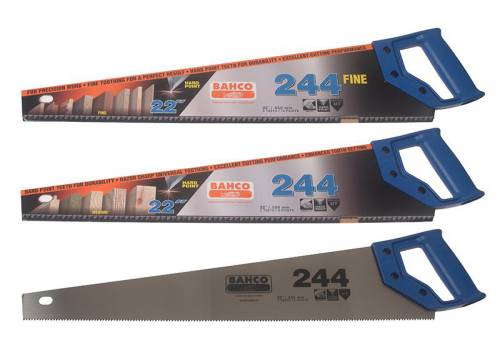 Bahco 2 X 244/22in Saws + 1 X 244/22 Fine Cut