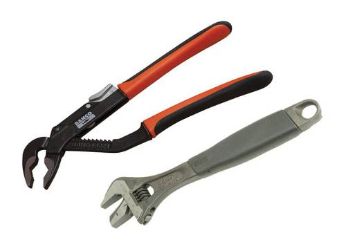 Bahco 9873 Adjustable & Slip Joint Plier Set (2 Piece)