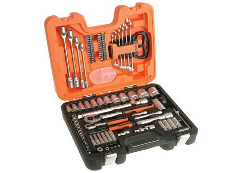 Bahco S910 Socket Set 91-Piece 1/4 & 1/2in Drive