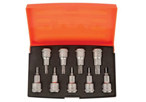 Bahco S9TORX 1/2in Drive Socket Set of 9 Metric S9TORX