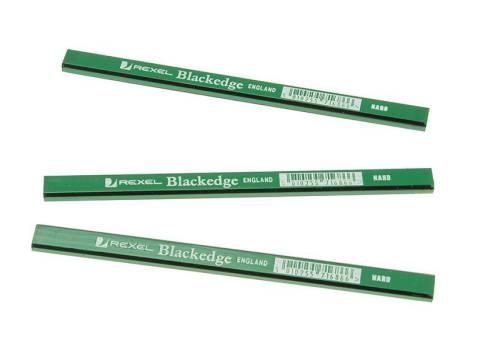 2 Medium Red Rexel Blackedge Carpenters Pencils Carpentry Tools 3 Hard Green