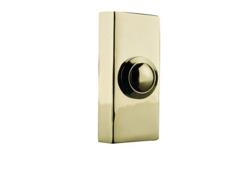 Byron 2204 Wired Bell Push Brass 74 x 32mm