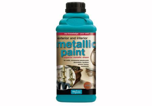 Polyvine Exterior & Interior Metallic Paint Copper 500ml