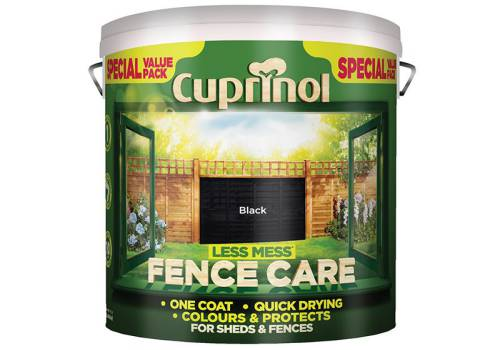 Cuprinol Less Mess Fence Care Black 6 Litre