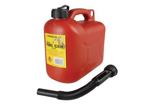 S STYLE Leaded Petrol Can & Spout Red 5 Litre