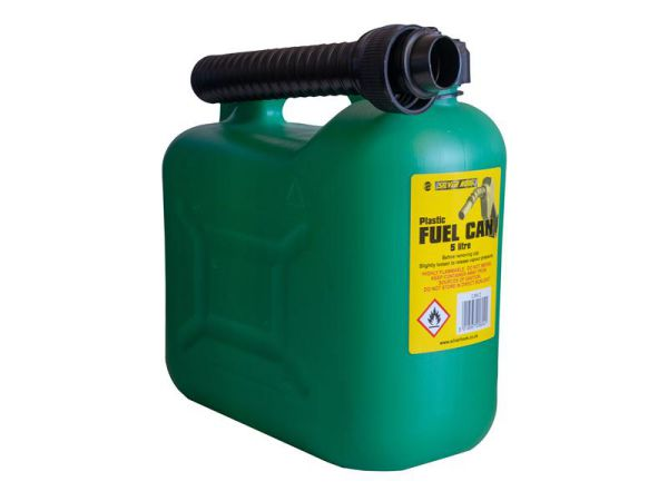 S STYLE Unleaded Petrol Can & Spout Green 5 Litre