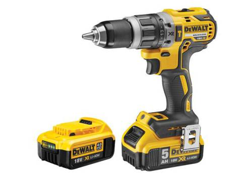 DEWALT DCD796PM XR Brushless Hammer Drill 18V 1 x 4.0Ah & 1 x 5.0Ah Li-ion