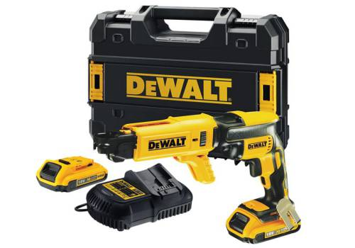 DEWALT DCF620D2K Brushless Collated Drywall Screwdriver 18 Volt 2 x 2.0Ah Li-Ion