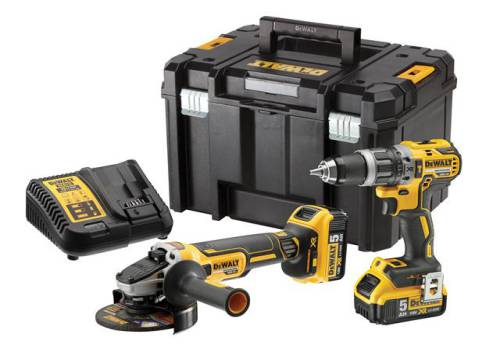 DEWALT DCK2080P2T XR Brushless 2 Speed Twin Kit 18V 2 x 5.0Ah Li-ionDCK2080P2T-GB