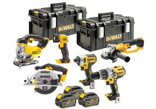 DEWALT DCK694T3 Brushless 6 Piece Kit 18V 3 x 6.0Ah DCK694T3