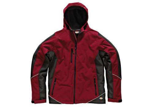 Dickies Two Tone Softshell Red / Black Jacket - L (44-46in) JW7010 RD/BK L