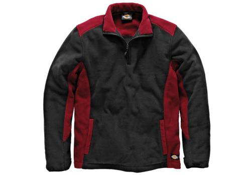 Dickies Two Tone Micro Fleece Red / Black - L (41-43in) JW7011 RD/BK L