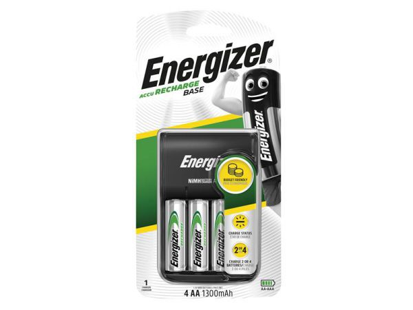 Energizer Charger 1300 + 4 AA 1300 Batteries