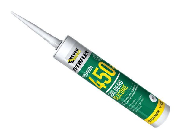 Everbuild Builders Silicone Sealant White 310ml 450