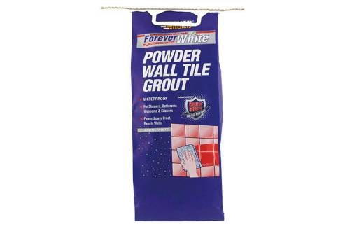 Everbuild Forever White Powder Wall Tile Groutt 3kg
