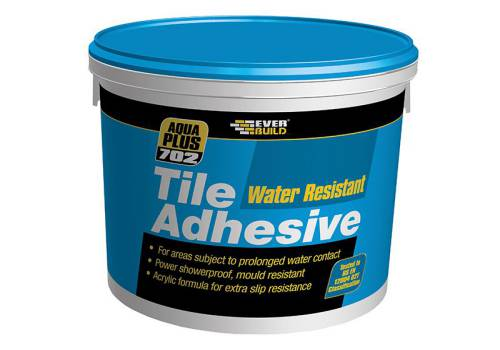 Everbuild Water Resist Tile Adhesive 702 5 Litre