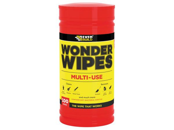 Everbuild Wonder Wipes Trade Tub x 100 - Antibacterial