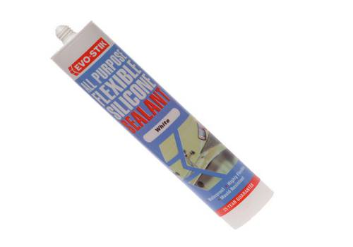 Evo-Stik All Purpose Flex Silicone Sealant White 112902