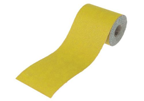 Faithfull Aluminium Oxide Paper Roll Yellow 115mm X 10m 120g