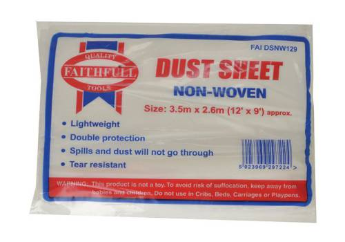 Faithfull Dust Sheet Non Woven 12ft X 8ft