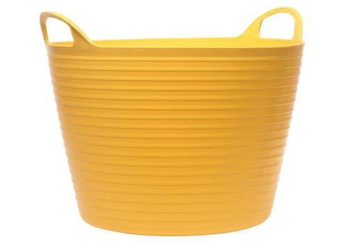 Faithfull Heavy-Duty Polyethylene Flex Tub 28 Litres Yellow
