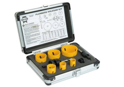 Faithfull Holesaw Kit 9pc - Plumbers
