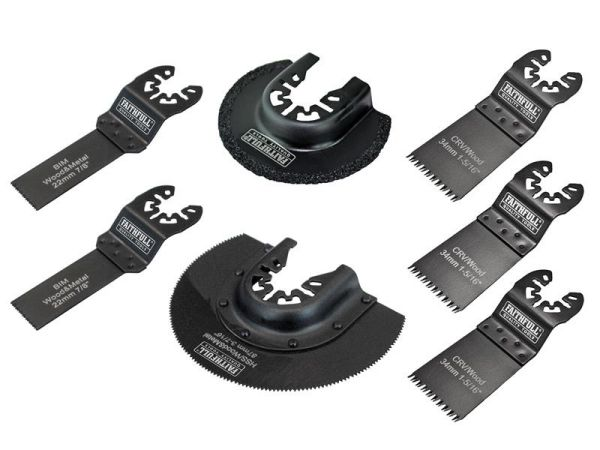 Faithfull Multi-Function Blade Set of 7