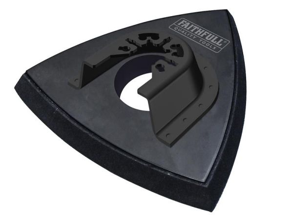 Faithfull Delta Hook & Loop  Sanding Pad Triangular 93mm