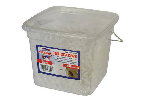 Faithfull Tile Spacer Long Leg 2mm Tub of 1000