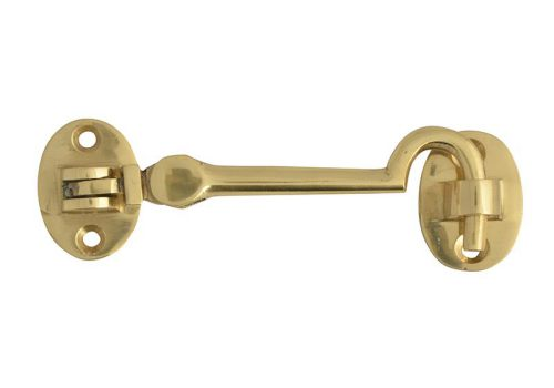 Forge Cabin Hook Silent - Brass - 100mm (4in)