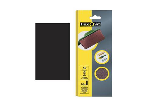 Flexovit 1/2 Sanding Sheets Orbital 115mm x 280mm Plain Coarse 50g (10)