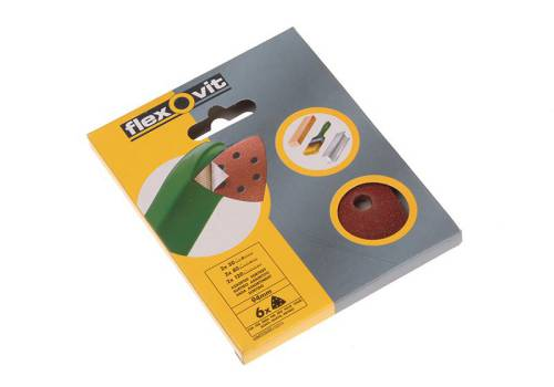 Flexovit Delta Hook & Loop Sanding Sheets 94 mm Assorted (6)