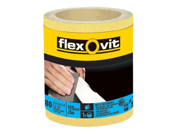 Flexovit High Performance Sanding Roll 115mm X 10m 40g
