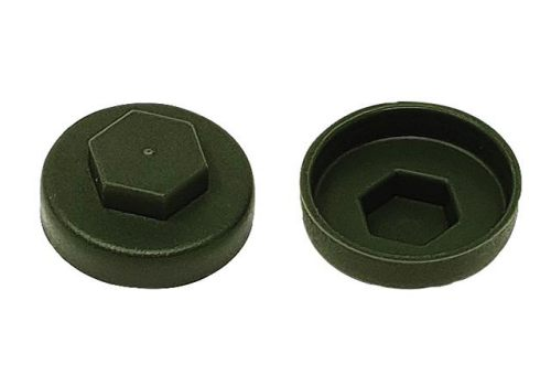 ForgeFix TechFast Cover Cap Olive Green 16mm (Pack 100) TFCC16OG