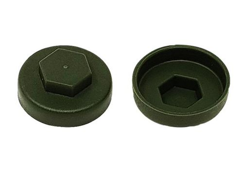 ForgeFix TechFast Cover Cap Olive Green 19mm (Pack 100) TFCC19OG