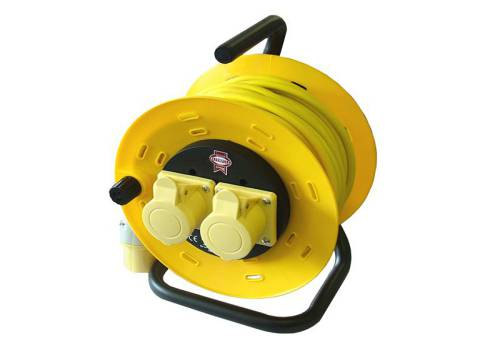 Faithfull Power Plus CR50ML Cable Reel Open Frame 50 Metre 16amp (110 Volt)