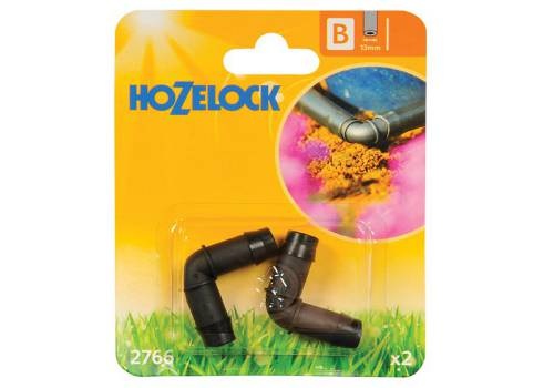 Hozelock 90 Degree Elbow Connector 13mm (2 pack)