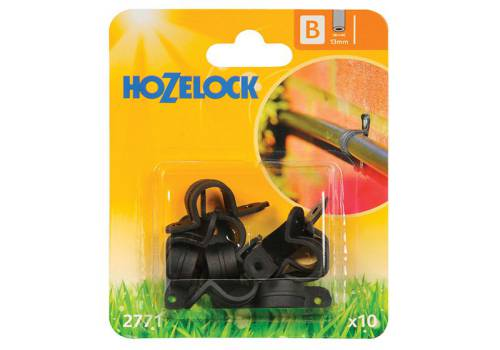 Hozelock Wall Clip 13mm (10 Pack)