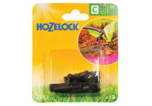 Hozelock End Line Dripper 4mm/13mm (10 Pack)