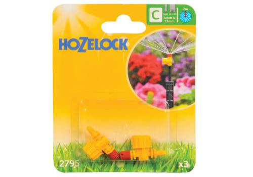 Hozelock Adjustable Micro Jet 360 Degree 4mm/13mm (2 Pack)