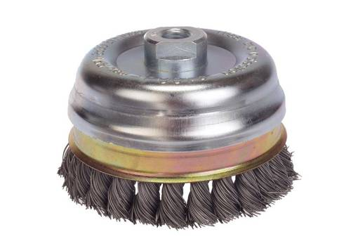 Lessmann Knot Cup Brush 100 x M14 x 0.5 Wire