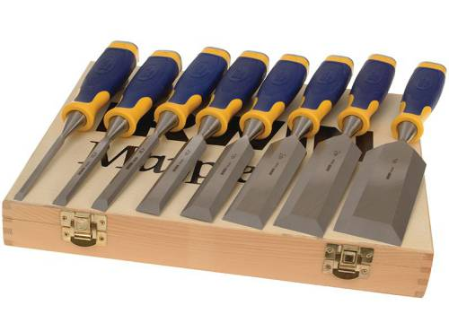 Marples Irwin ProTouch Bevel Edge Chisel Set of 6 Plus 2 Chisels FREE