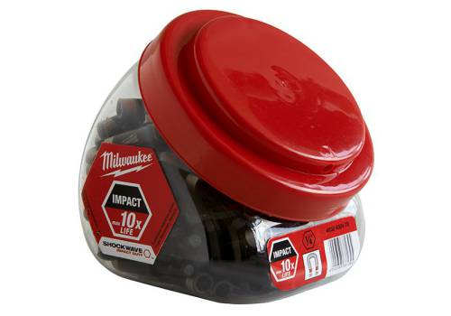 Milwaukee Impact Rated Mag Bit Holder Jar 100 Pieces