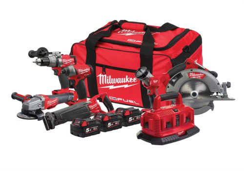 Milwaukee M18 ONEPP6A-503B Fuel ONE-KEY 6 Piece Powerpack 3 x 5.0Ah Li-Ion